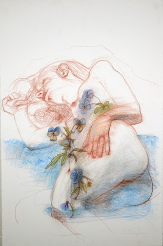 Untitled (figure study, Ophelia)