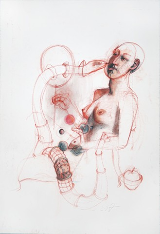 Untitled (figure study, woman with snake)