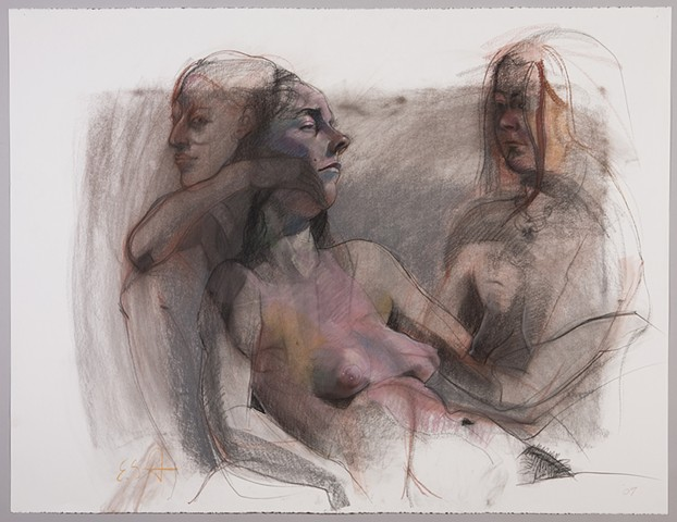 Untitled study (2 women & Julie)