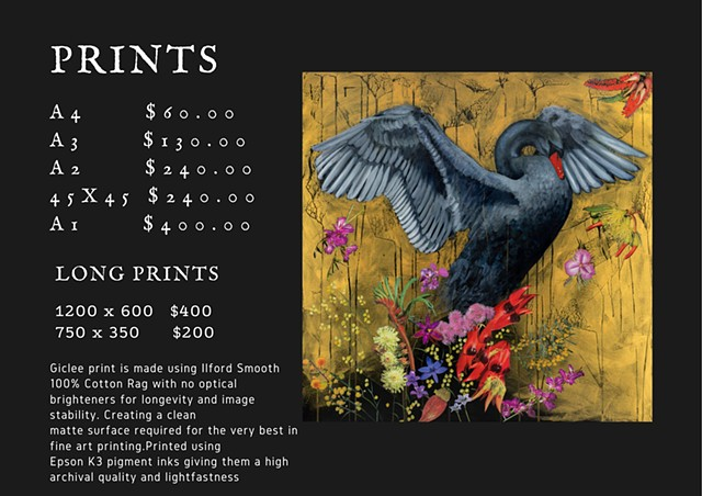 Price List for Prints
