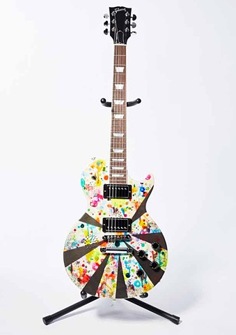Custom Gibson Guitar Collaboration with Def Leppard's Vivian Campbell for VH1's Save the Music.