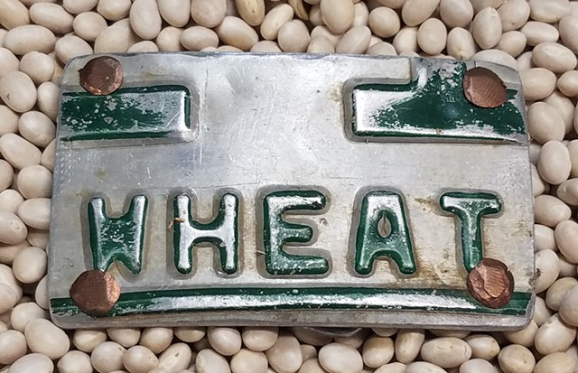 Antique Licence Tag Belt Buckle
