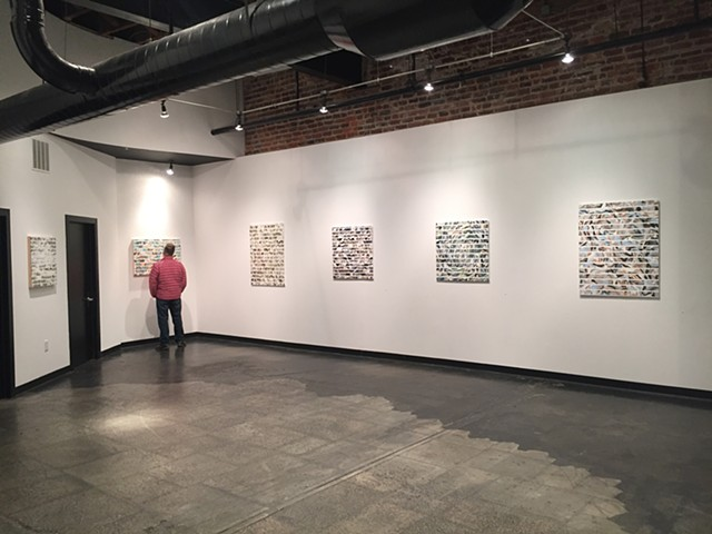 """Interval"", solo exhibition installation view, Shockoe Artspace, Richmond, VA December 1, 2017- February 24, 2018"