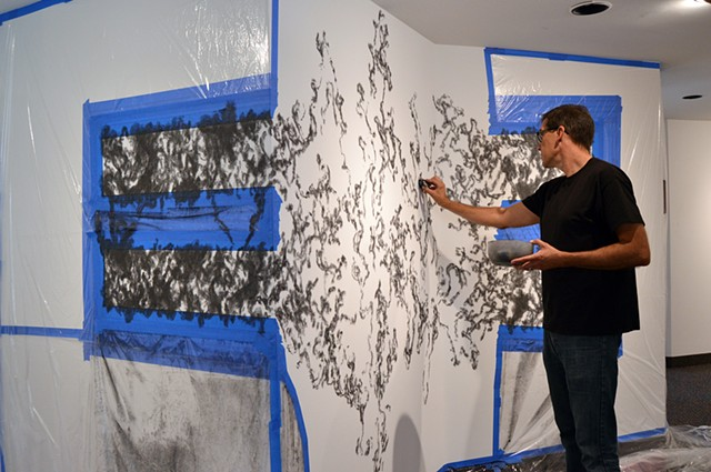 Site-Specific drawing at McLean Project for the Arts, 2015