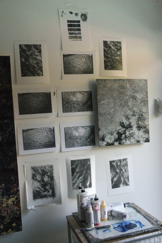 Relentless Continuity 2008, Studies hanging in the studio