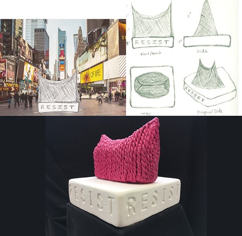 "Cindy Lee Westchester Community College:  Sculpture Assignment""Social Space- Monument""Design a monument related to your personal culture. Create a site proposal and orthographic drawings."