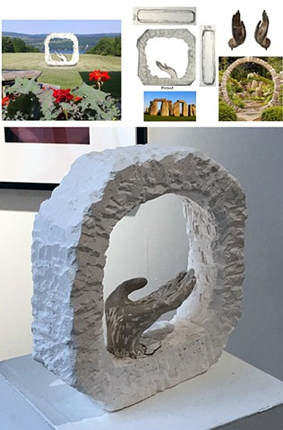 "Ildiko Csik Westchester Community College:  Sculpture 1 Assignment""Social Space- Monument""Design a monument related to your personal culture. Create a site proposal and orthographic drawings."
