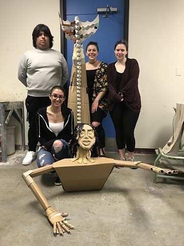 Jason Valleta, Sierra Kushman, Nicole Coviello Naugatuck Valley Community College:  Sculpture 1