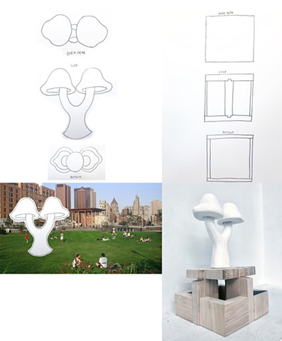 "Danny Gurung Parsons School of Design First Year Program:  Space & Materiality Assignment""Social Space- Monument""Design a monument related to your personal culture. Create a site proposal and orthographic drawings."
