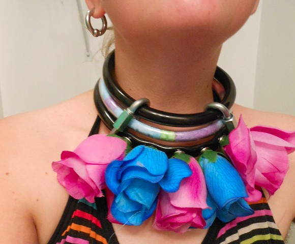 Fake Flower Costume Collar