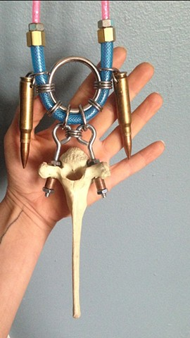 Deer Bone Bullet Necklace