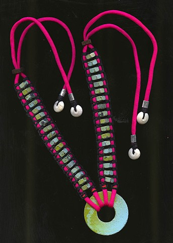 Color Macrame Necklace