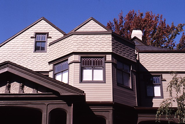 Wright Robinson Architects. Historic District. Addition. Renovation. Cedar shingles. Custom wood siding. Historic District. Gothic Revival Queen Anne.