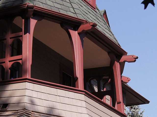 Montclair Bricks & Mortar Preservation Award Harry Fenn House Porch Restoration, Montclair NJ