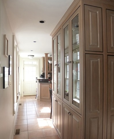 BEFORE  New Kitchen with Mudroom Addition,  Hillcrest Residence 2,  Glen Ridge NJ Historic District