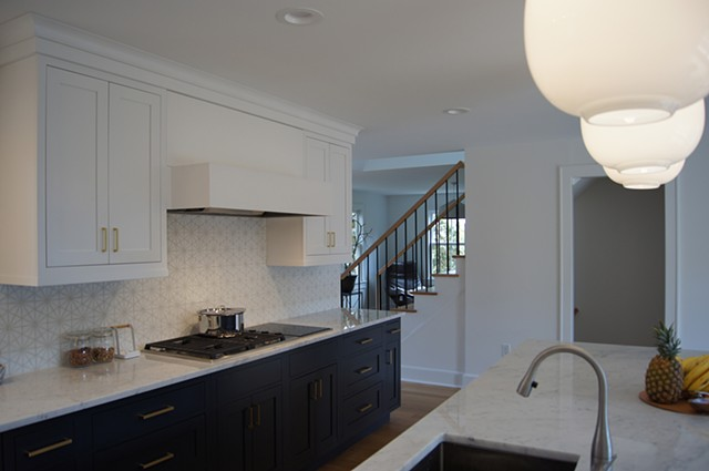 Wright Robinson Architects. Historic District. Addition. Renovation. Kitchen. Cape Cod house. Open Concept. Open Plan.