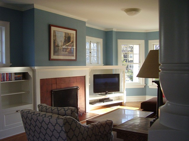 FAMILY ROOM CABINETRY Hawthorne Avenue Residence 3, Glen Ridge NJ  Historic District — Repeat client