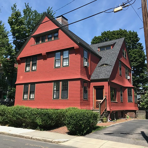 Charles Rutan. Architect. Brookline MA. Richardsonian Shingle Style. Red house.