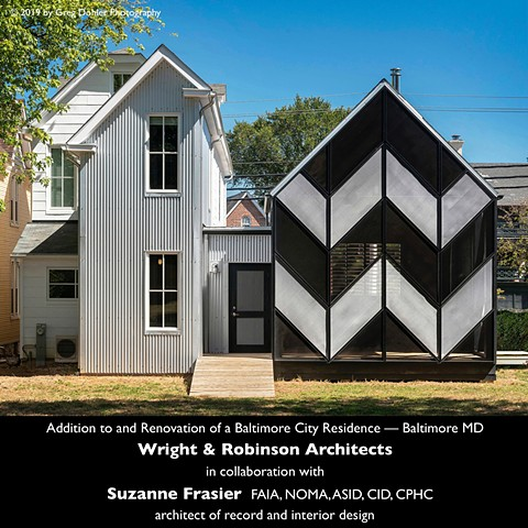 Design Award, Age-in-Place, Addition, Renovation, Screened Porch, Baltimore, Urban, Residence, Tin House
