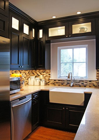 Wright Robinson Architects. Historic District. Renovation. Semi-custom kitchen.