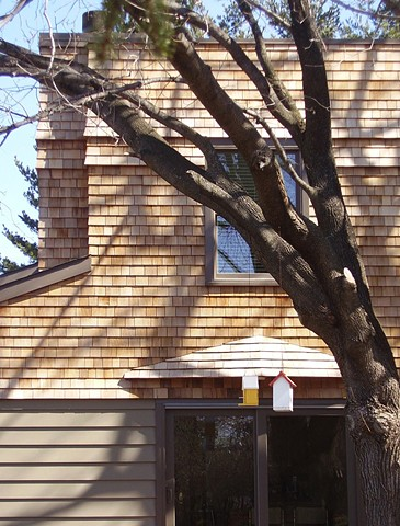 Wright Robinson Architects. Hudson NY. Split-level house. Add-A-Level. Shingle Style. Parkitecture. Western false-front.