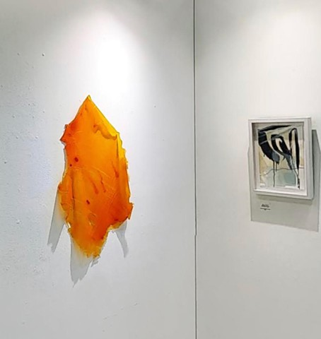 Orange Wall Drape, re. fresh., Envision Arts at CoLab Gallery, 207 North Elm Street, Denton, TX