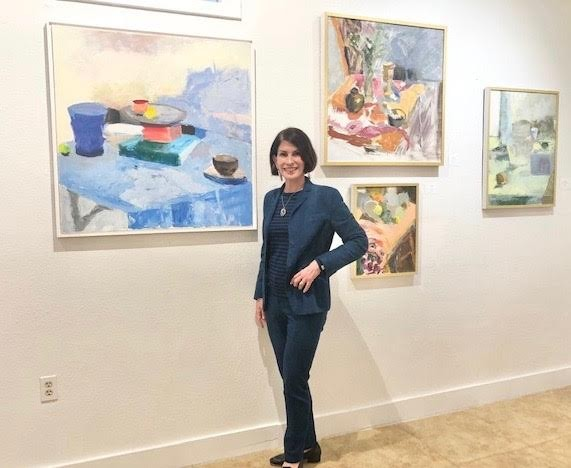 Various Still Lifes, Opening Night of Paris Rive Gauche, Yvonamor Palix Fine Arts, 1024 Studewood, Houston, TX