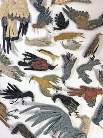 Memento Mori: 100 Dead Birds Project (detail)