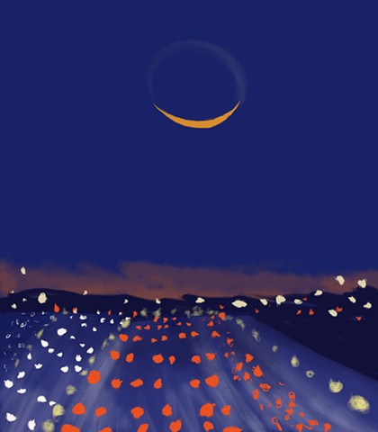 Memory Drawing- Crescent Moon