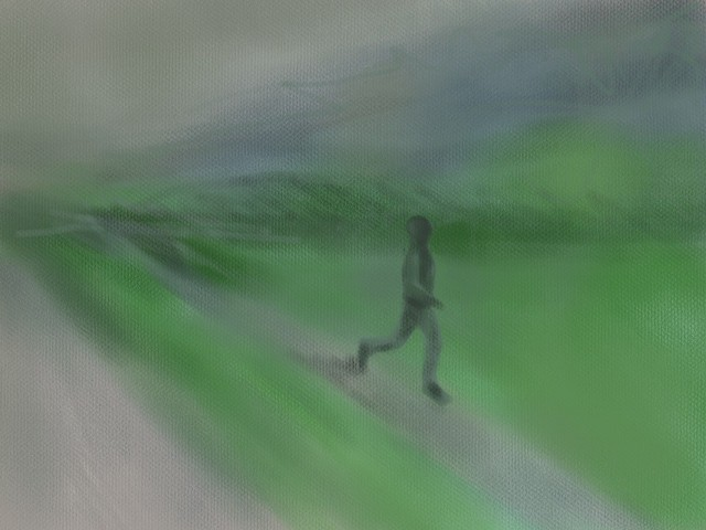 Memory Drawing- Morning Jogger in Fog