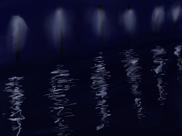 Memory Drawing- Bayou Reflections
