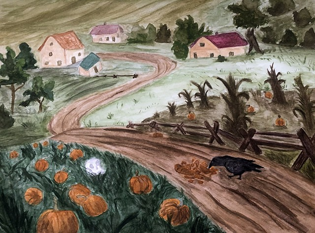 """Pumpkinsville"" by Lilli Blue"