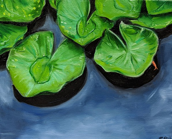 """Lily Pads""  Oil on Canvas Panel"