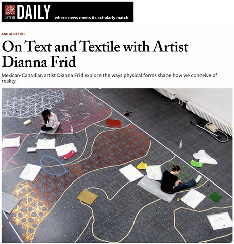 ON TEXT AND TEXTILE WITH ARTIST DIANNA FRID