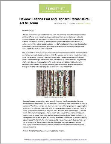 REVIEW: DIANNA FRID AND RICHARD REZAC