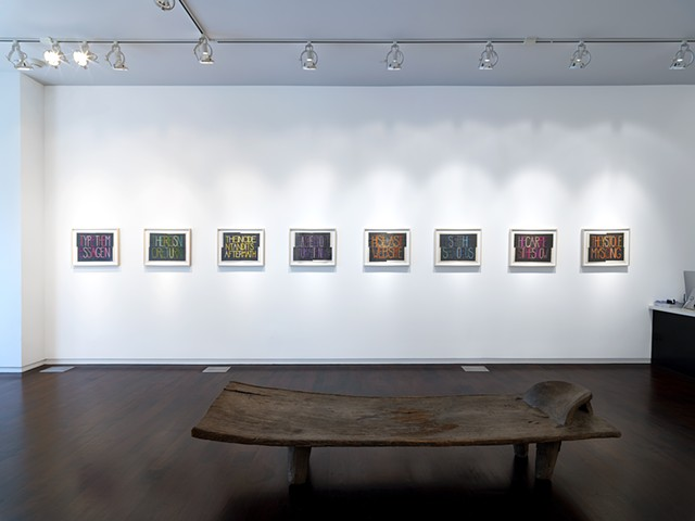Installation view, Alan Koppel Gallery