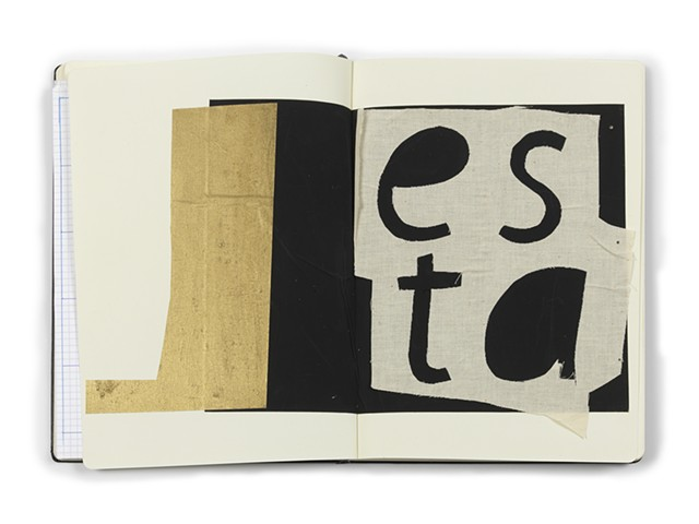 LETTER FORMS  for Esta MIna artist's book