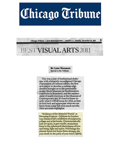 CHICAGO TRIBUNE: BEST VISUAL ARTS 2011