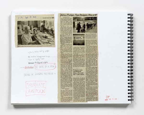 Source for NYT, SEPT. 20, 2015, ADRIAN FRUTIGER