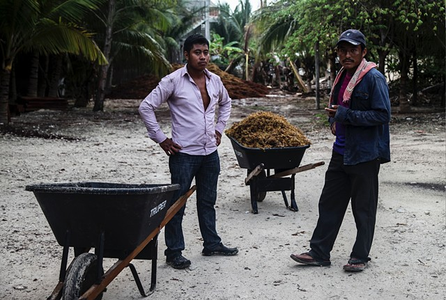 Two workers, employed by an upscale beach resort in Tulum Mexico, tell me they usually work around eight hours a day in the unforgiving Mexican sun; it tends to be closer to 12.