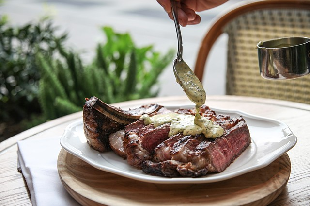 Standard Grill's Dry-Aged Rib-Eye for Two with Bernaise