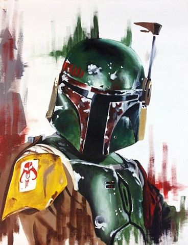 Painting of Boba Fett from Star Wars