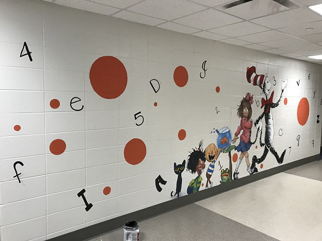 South Whitley Elementary Mural No.1