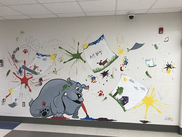 South Whitley Elementary Mural No.2