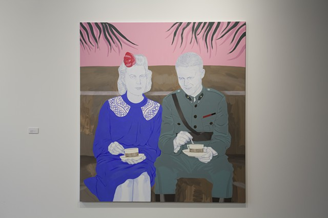Victor Rankanen, Portrait of a soldier and his wife drinking coffee