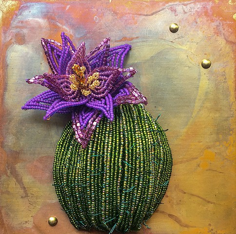 Cactus with Purple Flower