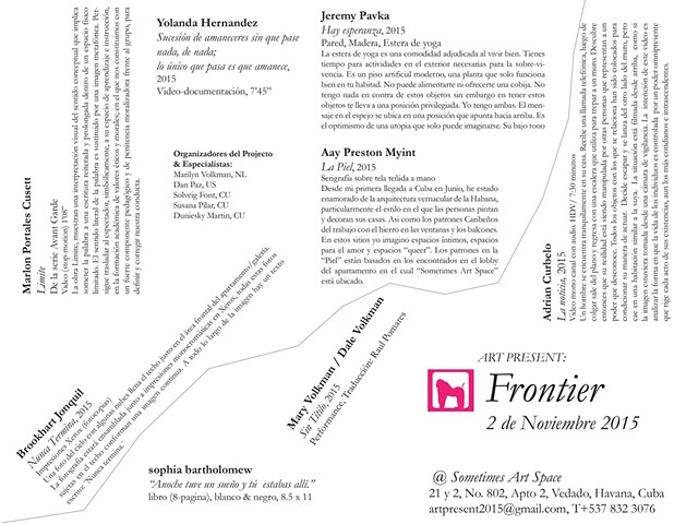 FRONTIER: 2015, Sometimes Art Space