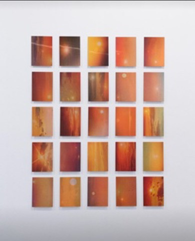 """Sunset (Discolights)"", Zena Van den Block 100 x 75 cm Digital print with lenticular foil 2019"