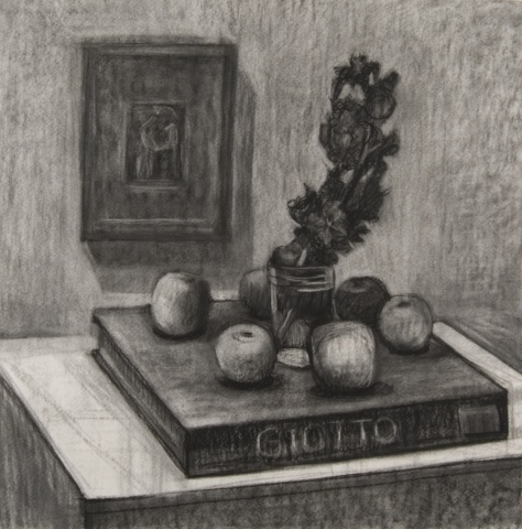 Still Life with Giotto (Drawing)