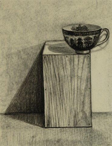 Teacup on Wood Box